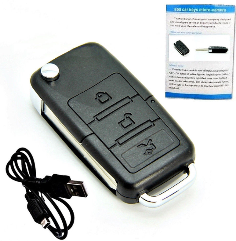 Mini Car Key Chain Hidden Spy Camera Pinhole Security DVR Video Recorder Cam HD