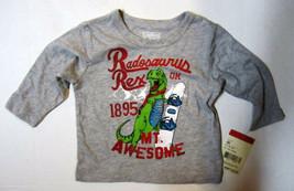 Oshkosh B'gosh 6M Boys Rex Dinosaur Snowboard Shirt Long Sleeve - Nwt New! - $3.27