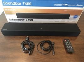 Samsung HW-T400 2ch Soundbar Built-in Woofer Surround Snd Black + Optical Cable - $94.05