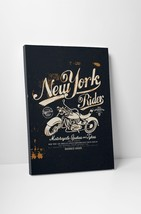 """New York Rider Motorcycle Art Gallery Wrapped Canvas Print. 30""""x20 or 20""""x16"""" - $42.52+"""