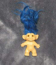 Vintage Troll With Great Long Blue Hair, no brand, naked - $39.59