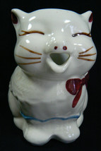 VTG 1940's Shawnee Puss'n Boots USA Creamer Hand Painted Cute Cat Bow Op... - $67.32