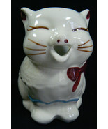 VTG 1940's Shawnee Puss'n Boots USA Creamer Hand Painted Cute Cat Bow Open Mouth - $67.32