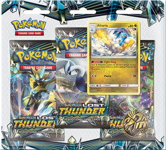 Pokemon Lost Thunder Blister Pack Altaria Promo 3 Booster Packs Sun Moon... - $15.99