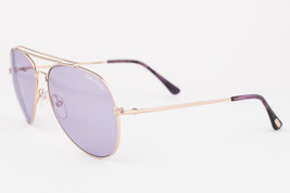 Tom Ford Indiana Rose Gold / Violet Sunglasses TF497 28Y - $175.42