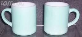 Hazel Atlas GLASS-- Platonite Ripple Blue Mugs - $10.95