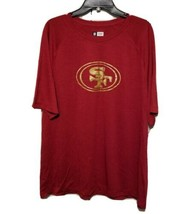 NEW - NFL San Francisco SF 49ers Men's T-Shirt Red with Gold Logo Large ... - $15.00