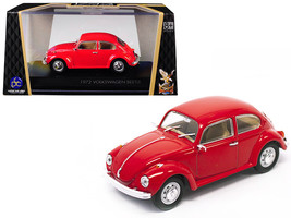 1972 Volkswagen Beetle Red 1/43 Diecast Model Car by Road Signature - $27.35