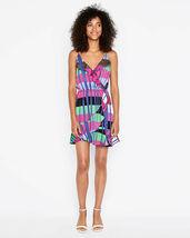 Express Women's  Striped Ruffle Wrap Cami Dress XSmall   image 3