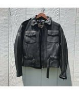 Vintage Harley-Davidson Women's Leather Riding Jacket 38 W Inter Quilted... - $225.00