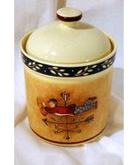 """Certified International For JC Penney Heritage Tea Canister 4 1/4"""" - $12.59"""