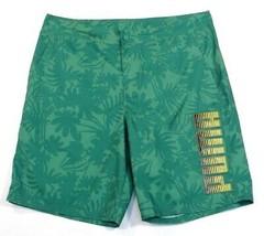 Puma Signature Green Tropical Pattern Boardshorts Swim Trunks Men's NWT - $44.99