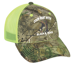 Cap Hat Caps Camo Yellow Mesh Black&Tan Coon Hunter Hound Coonhound Hunt... - $12.99