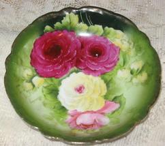 PT Bavaria Rose Transfer Design Dessert Bowl-Tirschenreuth,Germany - $15.00
