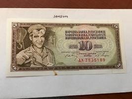Yugoslavia Jugoslavia 10 dinara uncirc.  banknote 1968 - $3.95