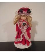 Vintage Doll, Victorian, miniature ceramic doll, valentine doll, victori... - $25.00
