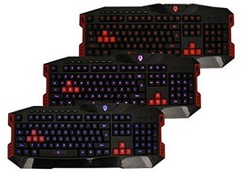 Viotek Twilight Illuminated USB Gaming Keyboard Blue, Red or Purple Back... - $479,75 MXN