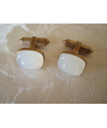 Vintage Cuff Links ~ White Cabochons - $5.00