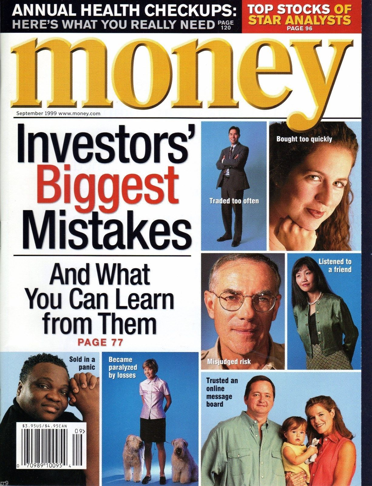 Primary image for Money Magazine September 1999 Investors' Biggest Mistakes