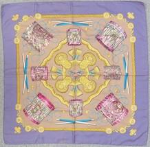 "Authentic HERMES ""Les Tambours"" Purple 100% Silk Scarf w/Box#32629 - $4.508,49 MXN"