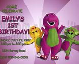 Barney birthday invitation thumb155 crop