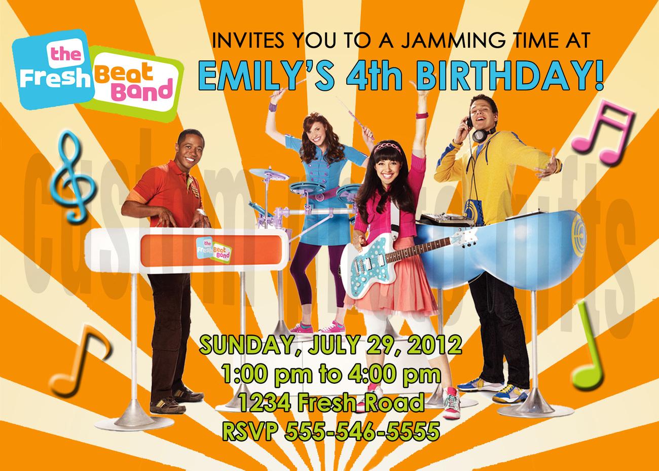Fresh beat band birthday invitation  2