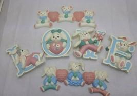 1992 Homco Burwood LOVE  Bunnies Wall Plaque 1992 Bears and Hearts - $27.26