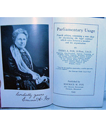 Parliamentary Usage by Emma Fox 1943 Signed HC Photos - $12.99