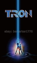 Tron Jeff Bridges 1980's 3'x5' Black movie poster Flag Vertic USA Seller... - $25.00