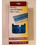 New Assured 7 Day Pill Box Medication Organizer Tray AM / PM Twice a Day... - $6.43