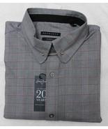 Sean John Meteor Black Tailored Fit Check Long Sleeve Dress Shirt - $21.95