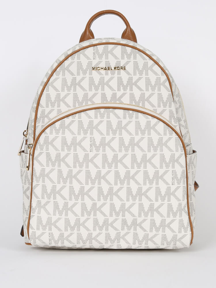 083808cc7eeb S l1600. S l1600. Previous. Michael Kors Abbey Vanilla MK White PVC Women s  Large Backpack Bag New  398