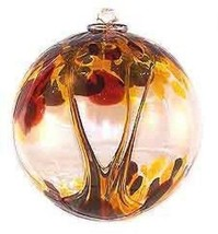 "6"" European Art Glass Spirit Tree AUTUMN Brown Gold Witch Ball Friendshi... - $41.23"