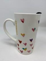 Starbucks 14 oz. Coffee With Lid Cocoa Mug Cup with Hearts  - $19.79