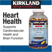 2PACK Kirkland Signature 100% Wild Fish Oil Blend 360 Softgel 1000mg LON... - $38.36
