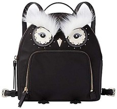 Kate Spade New York Star Bright Owl Tomi Backpack (Black Nylon WKRU5690)