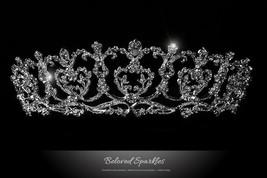 Diana Vintage Art Deco Heart Silver Tiara | Swarovski Crystal - $78.95