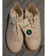 Girls/Youth 2 Cat & Jack White Karletta Shoes Pink Gum Bottoms Sparkle L... - $18.76