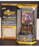 1996 Marvel Comic Book Champions Captain America Pewter NIB With Certifi... - $34.99