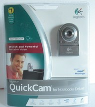New Logitech Webcam Quick Cam Notebooks Deluxe Face Tracking 1.3 Megapixel  - $27.83