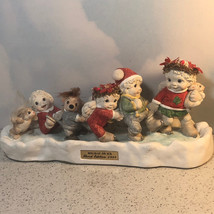 DREAMSICLES CHRISTMAS FIGURINE SCULPTURE HOLIDAY ON ICE SIGNED CHERUB AN... - $44.55