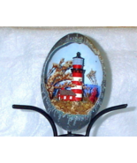 Decorated Emu Egg Assateague Lighthouse, Egg Ar... - $125.00