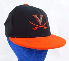 University of Virginia Cavaliers New Era 5950 Black Baseball Cap Hat 6 3... - $11.99