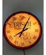 Vintage Anheuser Busch - Bavarian Beer Drum Clock Light  Cold To Go - $69.99