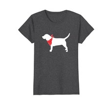 Beagle Wearing Red Bandana Dog Silhouette T-Shirt - $19.99+