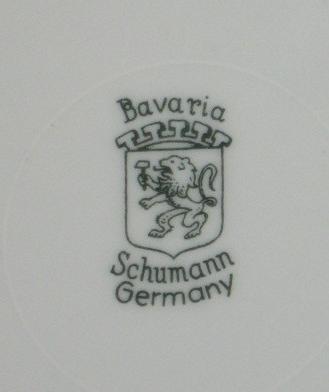 Porcelain Dessert Plate Fruit  Design - Arzberg Bavaria-Schumann Germany