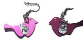 Pink bird anodized aluminum earring 39 - $16.00