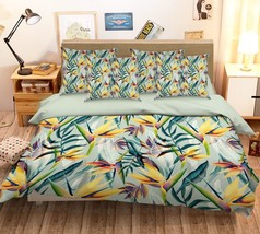 3D Yellow Leaves 246 Bed Pillowcases Quilt Duvet Single Queen King US Summer - $102.84+