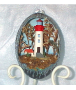 Decorated Emu Egg Lighthouse No 2 Collectible - $125.00