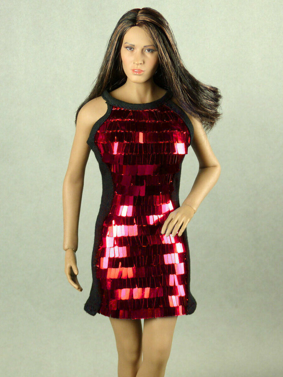 Primary image for 1/6 Scale Phicen, TBLeague, Hot Toys, Vogue Female Black & Red Sequence Dress